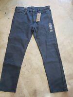 LEVI'S JEANS MEN'S 502 TAPER MEDIUM BLUE DENIM JEANS TAPERED LEG 36X32 $69 NWT