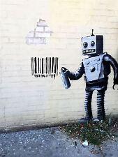 ART PRINT POSTER FOTO MURALE Graffiti Street BARCODE ROBOT nofl0150