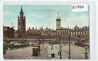 B1984cgt UK Liverpool Landing Stage Trams vintage postcard