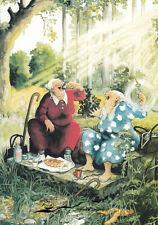 Postkarte/ Postcard: Inge Löök - Frauen beim Picknick im Wald / Nr. 13