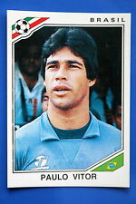 Panini WC MEXICO 86 STICKER N. 255 BRASIL VITOR WITH BACK VERY GOOD/MINT