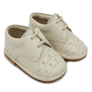 Maiorista Baby Shoes Light Beige Leather Moccasins Made in Portugal
