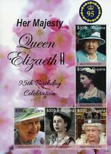 More details for guyana 2021 mnh royalty stamps queen elizabeth ii 95th birthday 5v m/s