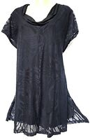 TS top TAKING SHAPE plus sz XXS / 12 C'est La Vie Tunic stretch lace NWT rp$130