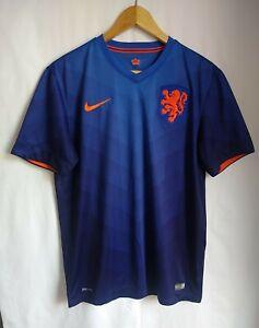 Holland 2014 World Cup Blue Football Shirt Size Medium