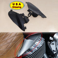 Black Saddle Shields Heat Deflectors For 2014- 2018 Indian CHIEFTAIN MOTORCYCLE