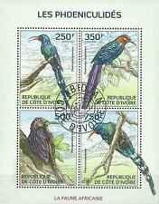 Timbres Oiseaux Cote d'Ivoire 1358/61 o année 2014 lot 18933
