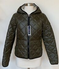 NWT Abercrombie & Fitch Green Quilted Puffer Jacket / Coat