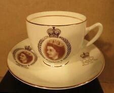 Duchess Queen Elizabeth II Coronation June 1953 Teacup & Saucer/Made in England