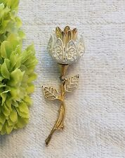 Floral Blossom Leave Petal Gold Tone Ch10 New listing