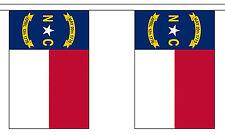NORTH CAROLINA U.S. STATE BUNTING 9 metres 30 flags Polyester flag