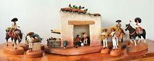 Amazing Huasteco Nativity by mexican master Israel Soteno folk art