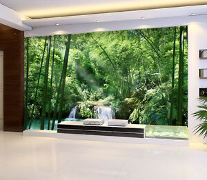 3D Bamboo Forest River 346 Paper Wall Print Wall Decal Wall Deco Indoor Murals