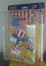 Peanuts Snoopy & Woodstock  U.S.A. Medicom Ultra Detail Figure New in Box HTF