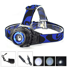 800LM Zoomable XPE LED Rechargeable Headlamp Head Torch Light + AC/Car Charger