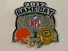 Green Bay Packers Game Day Pin vs Cleveland Browns December 10 2017 12/10/17
