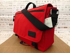 Borsa Messenger FOSSIL Travis Bookbag Rosso Borsa a Tracolla Borse a Tracolla Nuovo con Etichetta RRP £ 129
