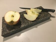 "Granite Cheese Cutting Board Trivet Hot Pad Approx 11"" x 4"" Natural Edge"