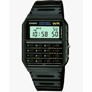 Casio Water Resistant Retro Calculator Watch with Resin Strap (CA53W-1ER)