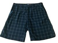 MENS  size 34 Black  yellow blue check QUIKSILVER  casual  Dress shorts