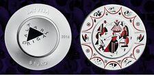 """Baltars"". Porcelain plate shape 5 euro 2016 LATVIA, Lettland silver coin"