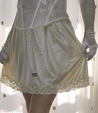 Or silky nylon & jupon dentelle~sous-jupe mini demi à enfiler~lingerie