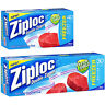 ZIPLOCK HEAVY DUTY DOUBLE ZIPPER QUART / GALLON FREEZER FOOD BAGS ZIPLOC GENUINE