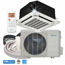 9000 BTU Ductless Mini Split Air Conditioner - Ceiling Cassette Heat Pump