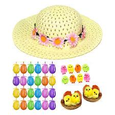 Girls Easter Bonnet Hat Set - Complete Arts & Crafts Kit