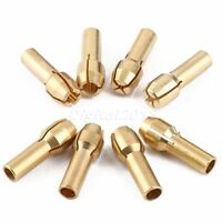 2 Set/8pcs Brass Collet Adapter Nuts for Power Drill Rotary Tool Pin Vise Set
