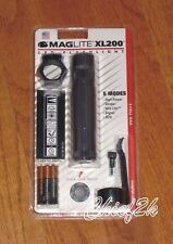 Maglite XL200 TAC PACK 5-Mode LED Flashlight Adjustable Torch Mag PEWTER GRAY
