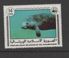 Mauretania #383-387 Elephant Wwf manatee goat antelopes
