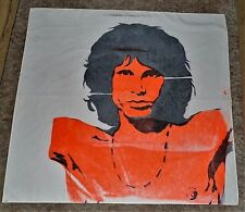 "Vintage 1970's Jim Morrison silk screen 53"" x 53"" on Fortrel fabric"