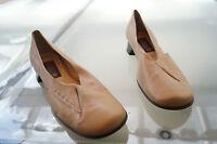 everybody Damen Sommer Schuhe Sandalen Pumps Gr.39,5 beige weiches Leder TOP
