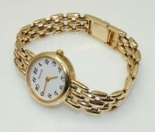 Accurist GD1127 Ladies 9carat 9k Yellow Gold Ladies Bracelet Watch