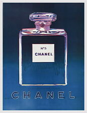 Chanel (Purple & Blue) Offset Lithograph on Paper Mounted on Canvas Andy Warhol