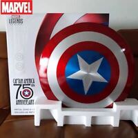 Captain America 75th Anniversary Avengers Shield Alloy Metal 1//1 Lacquer Bake US