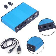 Carte son optique externe USB 5.1 6 canaux SPDIF audio pour PC portable Netbook