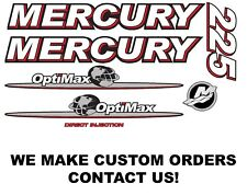 Mercury 225hp Optimax Outboard Engine Decal Kit 2007 - 2012