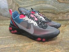 2018 Nike React Element 87 OG SZ 9.5 Solar Red Blue Chill Cool Grey AQ1090-006