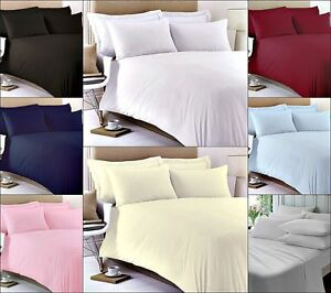 400 THREAD COUNT 100% COTTON FITTED SHEET FLAT SHEET SINGLE DOUBLE KING SUPER