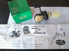 Waltco Ny-O-Lite Vintage Fishing Spinning Reel In Box Du Pont Nylon W/ Extras