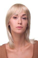 Perruque Femmes : Blonde Sauvage Coupe & Séduisant Frange mi-Longue Cheveux