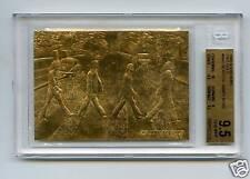 1996 BEATLES 23KT GOLD ABBEY ROAD BGS 9.5 GEM MINT 1/2