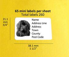 Newfoundland 260 personalised Dog Address Labels Stickers