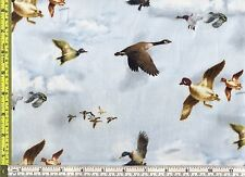 Duck Geese South for the Winter Spectrix Cotton Fabric 1/4 yard 22.5 cm off bolt