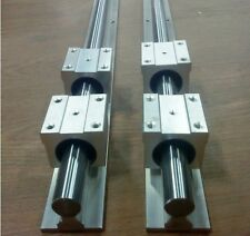 2 set SBR16-600mm 16MM LINEAR SLIDE GUIDE RAIL SHAFT+4 SBR16UU bearing Block CN
