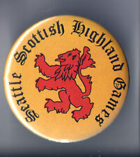 Seattle SCOTTISH Highland GAMES  old pin button