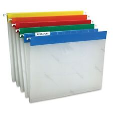 10 Pendaflex Letter Size Easy View Poly Hanging File Folders w/Tabs & Inserts