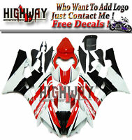 N Fairings For Yamaha YZF-R6 06 07 2007 ABS Fairing Kit Bodywork Eneos Red White